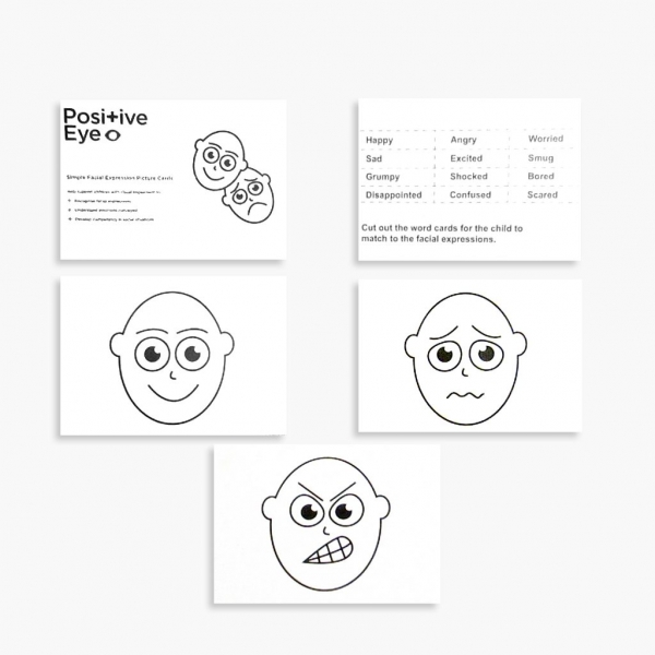 Simple Facial Expression Picture Cards